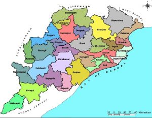 Geographical location of Odisha